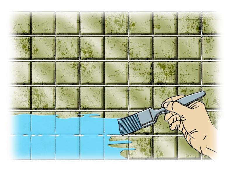 o que fazer se no forem encontrados os azulejos necessrios uma opo colocar um tipo de azulejo parecido e pintar os demais na parede com a tinta