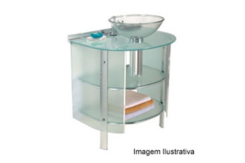 Gabinete 50x46x72cm Cris Mold Branco Com Cuba 000 994 6 Cris Metal  #2D7980 1500x1000 Banheiro Azul
