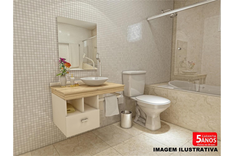 Gabinete para Banheiro com Cuba em Resina E Espelho 50x60 Bisotado Kit  #BD0E11 1500 1000