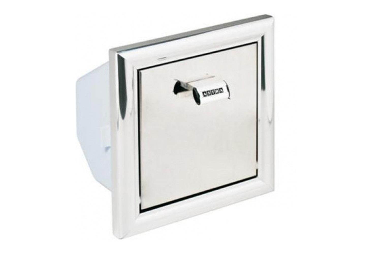 Papeleira de Embutir Alumínio Ref: Lb2 Astra Cód: 774707 #5D6A6E 1500x1000 Acessorios Banheiro Astra