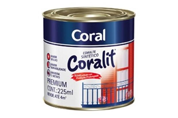 Coral Azul Tinta ~ Tinta Esmalte Coralit Brilhante Verde Folha 225ml Coral C&C