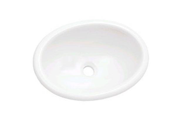 Cuba Oval de Sobrepor 44x32cm Branca L66  Icasa  C&C -> Cuba Para Banheiro De Sobrepor Oval Branca Icasa