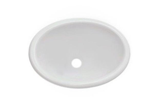 Lavatório  Banheiro  Louças  Material de Construção  C&C Casa e Const -> Cuba Para Banheiro De Sobrepor Oval Branca Icasa