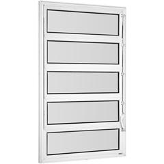 Vitrô Basculante de Alumínio 1 Seção Vidro Mini Boreal Branco  Una 100x80cm - Casanova