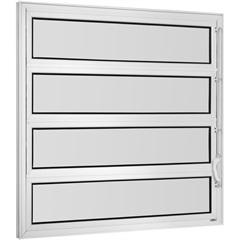 Vitrô Basculante de Alumínio 1 Seção Vidro Mini Boreal Branco  Una 80x60cm - Casanova