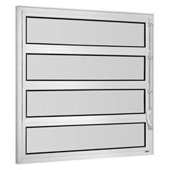 Vitrô Basculante em Alumínio Vidro Mini Boreal Una Branco 1 Seção 80x80cm    - Casanova