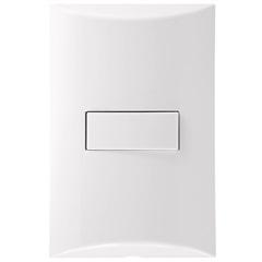 1 Interruptor Simples 4x2 Brava Branco - Iriel