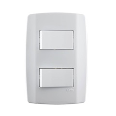 1 Interruptor Simples E 1 Interruptor Paralelo 10a 250v Horizontal Slim  - ILUMI