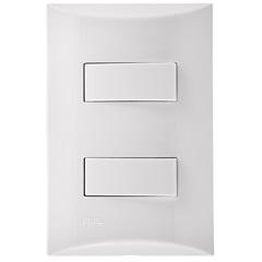 2 Interruptores Paralelos 250v 4x2 Brava Branco  - Iriel