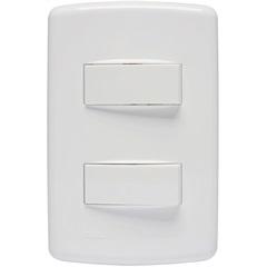 2 Interruptores Simples 10a 4x2 Duale Up 250v  - Iriel