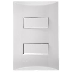 2 Interruptores Simples 4x2 250v Brava Branco - Iriel