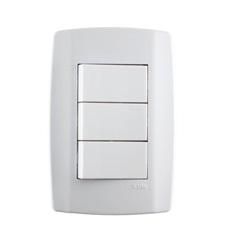 3 Interruptores Paralelos 10a 250v Horizontal Slim - ILUMI