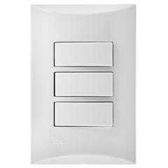 3 Interruptores Simples Brava 4x2 10a 250v  - Iriel