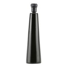 Abajur Cerâmica Cone Preto            - Importado