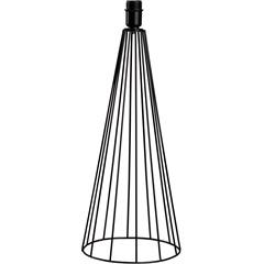 Abajur sem Cúpula Tower Preto 50cm - LS Ilumina