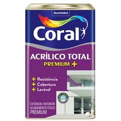 Acrílico Total Fosco Branco 18 Litros - Coral