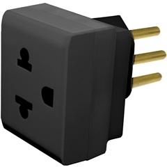 Adaptador 2p + T Preto 690661 - Pial Legrand