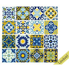 Adesivo de Azulejo 15x15 Modelo Lisboa com 16 Peças - House Fun