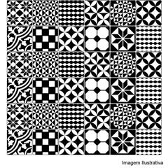 Adesivo para Azulejo 15x15 com 36 Pcs Ref.418pb - R+ Comunicação