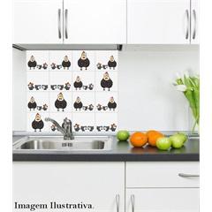 Adesivo para Azulejo Galinha com 16 Unidades 15x15cm       - Dona Cereja