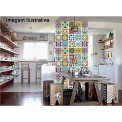 Adesivo para Azulejo Hidráulico com 16 Unidades 15x15 Cm - Dona Cereja