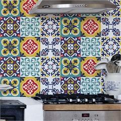 Adesivo para Azulejo Satre 15x15cm com 24 Peças Multicolorido - Grudado