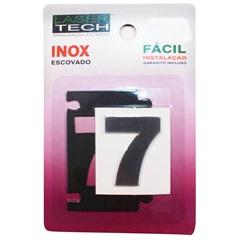 Algarismo Adesivo Número 7 em Inox Escovado 4 Cm - Display Show