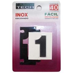 Algarismo de Adesivo Número 1 Inox Escovado 4cm - Display Show