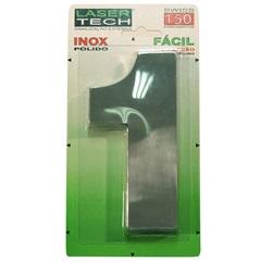 Algarismo Número 1 de Inox Polido 15cm   - Display Show