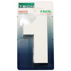 Algarismo Número 1 em Inox Branco 15cm - Display Show