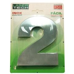 Algarismo Número 2 de Inox Polido 15cm - Display Show