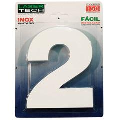 Algarismo Número 2 em Inox Branco 15cm - Display Show