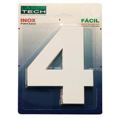 Algarismo Número 4 em Inox Branco 15cm - Display Show