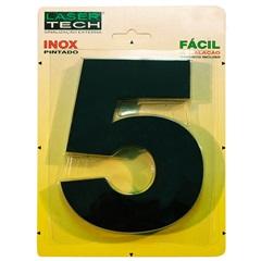 Algarismo Número 5 em Inox Preto 15cm - Display Show