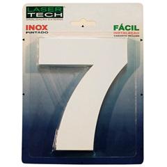 Algarismo Número 7 em Inox Branco 15cm - Display Show