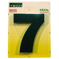 Algarismo Número 7 Inox Preto 15cm - Display Show