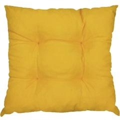 Almofada 4 Pesponto Amarela 45x45 Cm                - Combinatta
