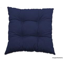 Almofada Azul Marinho 45x45 Cm                - Combinatta