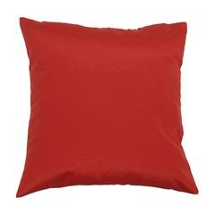 Almofada em Gorgurão Vermelha 45 X 45 Cm - Madritex