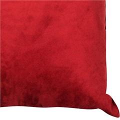 Almofada Lisa Suede 45 X 45 Cm Red Ruby - Combinatta