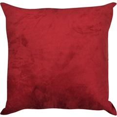 Almofada Lisa Suede Red Ruby 45x45cm - Combinatta