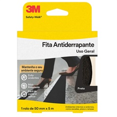 Antiderrapante Safety-Walk Preto 50mmx5m Ref. H0001912452 - 3M