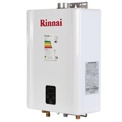 Aquecedor de Água a Gás Digital Bivolt Glp E17 Branco E Prata  - Rinnai