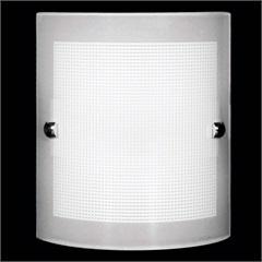 Arandela Calha Quadriculada Branca para 1 Lâmpada  - Auremar