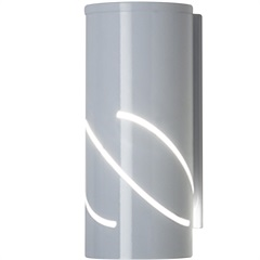 Arandela de Alumínio Flash Branca - Ideal Iluminação