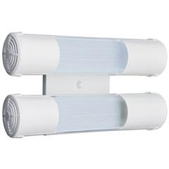 Arandela de Sobrepor para 2 Lâmpadas Mini Tubular 15x28cm Branco