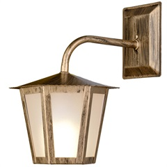 Arandela em Aço para 1 Lâmpada Colonial 30x19cm Ouro Velho