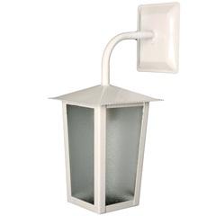 Arandela em Alumínio para 1 Lâmpada Colonial 36x15cm Branca - Ideal