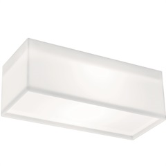Arandela White Led Retangular 10w 8,8x21,8cm 127v - Bronzearte