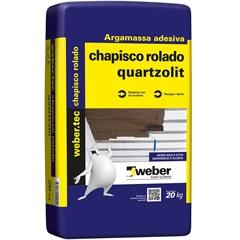 Argamassa Adesiva Chapisco Rolado Cinza 20kg - Quartzolit